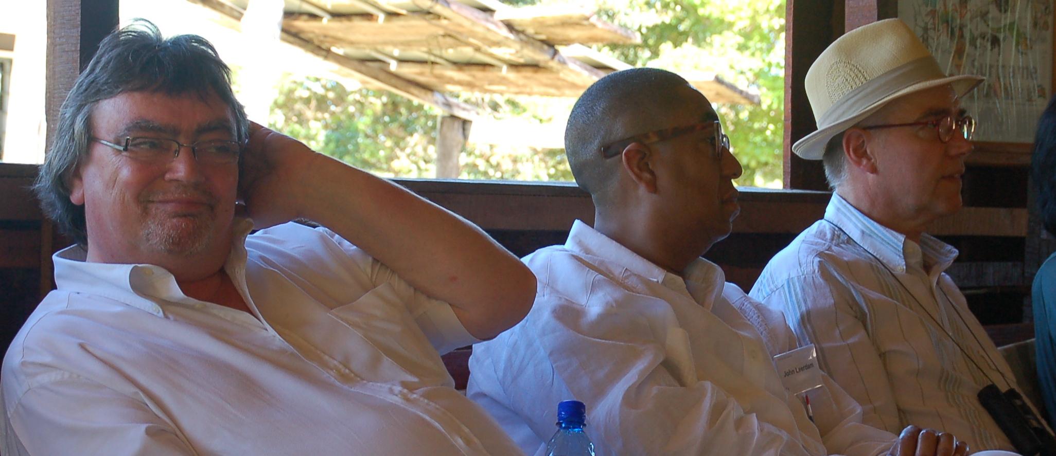 Met Dany voor de Taalunie in Suriname